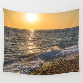 Sea sunset Wall Tapestry