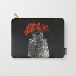Red Succulent Blossoms Carry-All Pouch