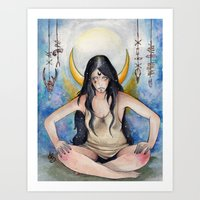 pagan Art Prints featuring Pagan Soul by Aline Boni