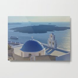 Santorini Island, Greece Metal Print