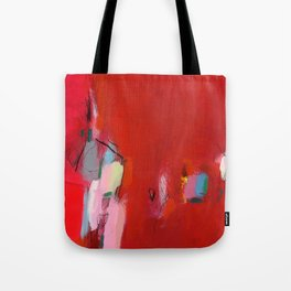 ABSTRACT GICLEE print from Abstract original red Painting Tote Bag