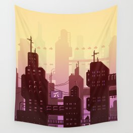 Future skyline Wall Tapestry
