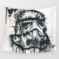 stormtrooper Wall Tapestries featuring Stormtrooper by Ren Davis
