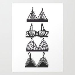 Bralettes III Art Print