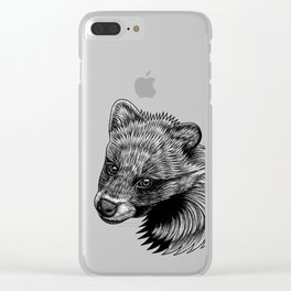 Racoon dog puppy - ink illustration Clear iPhone Case