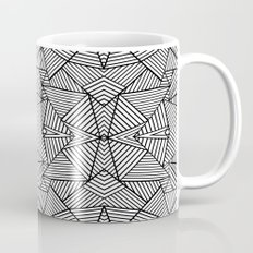 Abstract Mirror Black on White Mug