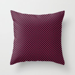 Black and Pink Yarrow Polka Dots Throw Pillow
