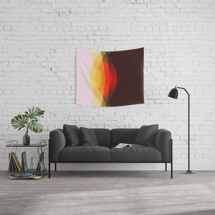 Warm Retro Abstract Wall Tapestry