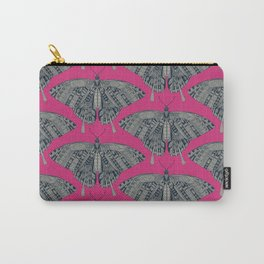 swallowtail butterfly pink indigo Carry-All Pouch