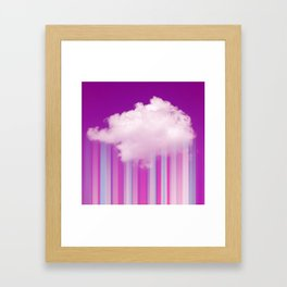 Raining Lines Framed Art Print