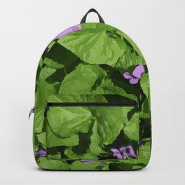 Viola flower Backpack