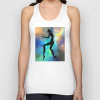 sound Tank Tops featuring sound by tatiana-teni