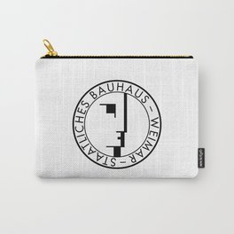 BAUHAUS LOGO / WHITE Carry-All Pouch