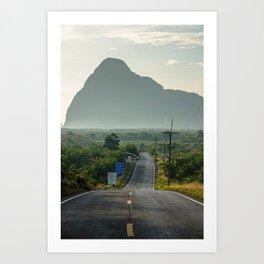 Road to Ao Phang-nga National Park, Phuket Thailand Art Print