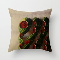 watermelon Throw Pillows featuring Watermelon by Take F1ve