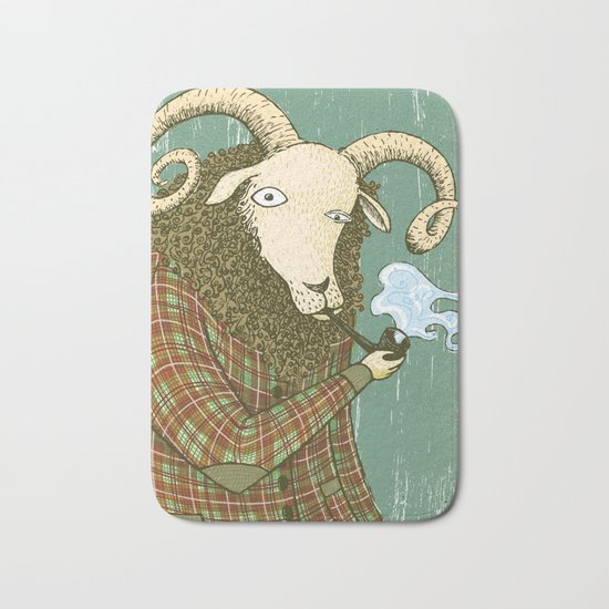 smoke a pipe Bath Mat