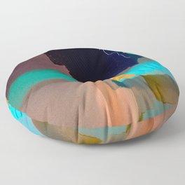 Ectoplasmic Escape Patterns Floor Pillow