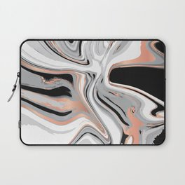 Liquid Marble with Copper Lines 015 Laptop Sleeve