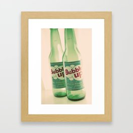 bubble up Framed Art Print