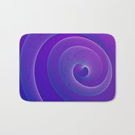 Spiral helix 3d illustration Bath Mat