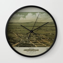 Jacksonville and the Rogue River Valley, Oregon (1883) Wall Clock
