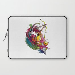 Capricorn Skull Zodiac Sign For December and January Birth Day Gift Laptop Sleeve