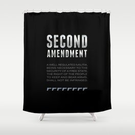 Second Amendment Shower Curtain