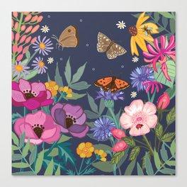 Anemones & Cornflowers Canvas Print