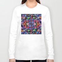 quilt Long Sleeve T-shirts featuring Space Quilt by deff