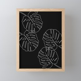Monstera Leaves Finesse Line Art #3 #minimal #decor #art #society6 Framed Mini Art Print
