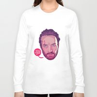 rick grimes Long Sleeve T-shirts featuring The Walking Dead - Rick Grimes by Mike Wrobel