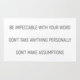 The Four Agreements #minismalism #shortversion Rug