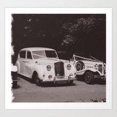 Wedding Cars Art Print