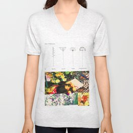 Various Types of Inflorescence Unisex V-Neck