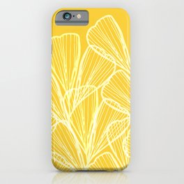 Golden Yellow Flora iPhone Case