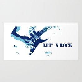 Go Rockers Art Print