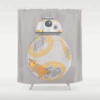 hamster Shower Curtains featuring Hamster BBall by Ashley Hay
