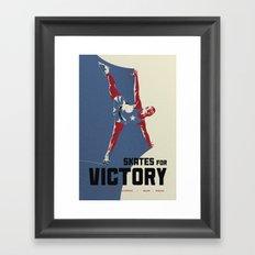 Skates for Victory Framed Art Print