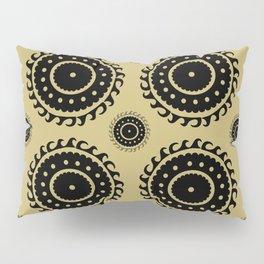 Black and Olive print Pillow Sham