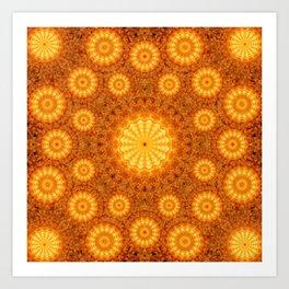 Sun Orb Mandala Art Print