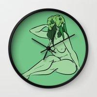 walrus Wall Clocks featuring Walrus by Christine Alexandria