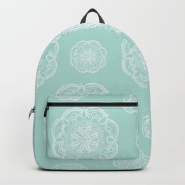 Mint Romantic Flower Mandala Pattern #2 #decor #art #society6 Backpack