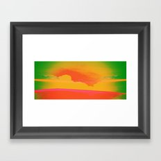 Signs in the Sky Collection - Rising Sun Framed Art Print