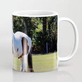 White And Brown Horse Coffee Mug