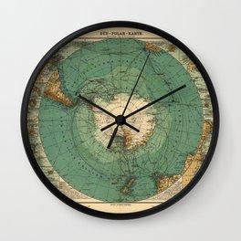 Map of Antarctica from 1912 (Süd-Polar-Karte) Wall Clock
