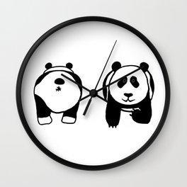 Panda booty Wall Clock