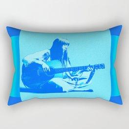 Blue Songbird Joni Mitchell Rectangular Pillow