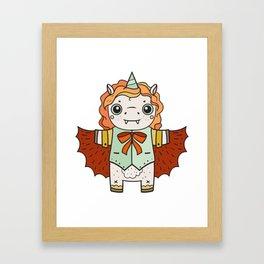 Unicorn Bat Framed Art Print