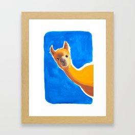 Hello, Alpaca Framed Art Print