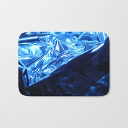 This Cold Elegance in Chrome Folds  Bath Mat